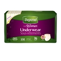 Depend® Underwear for Women, Moderate Absorbency, Small/Medium - Case of 76