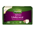 Depend® Underwear for Women, Moderate Absorbency, Large - Case of 68