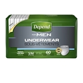 Depend® Underwear for Men, Maximum Absorbency, Small/Medium - Case of 60