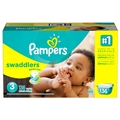 Pampers Swaddlers Diapers - Size 3 <br/> 136ct Case of 1