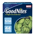 GoodNites Bedtime Bedwetting Underwear for Boys, S-M, 44 Ct. (Packaging May Vary)