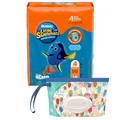 Huggies Little Swimmers Disposable Swim Diaper, Swimpants, Size Medium, 18 Ct., with Huggies Wipes Clutch 'N' Clean Bonus Pack