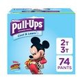 Pull-Ups Cool & Learn Potty Training Pants for Boys, 2T-3T (18-34 lb.), 74 Ct. (Packaging May Vary)