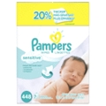 Pampers - Pampers Baby Wipes 7X Sensitive Perfume Free 448 Count <Br> 1 Pack
