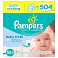 Pampers - Pampers Baby Wipes 7X Baby Fresh Scented 504 Count <Br> 1 Pack