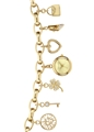 Anne Klein Women's 10-7604CHRM Gold-Tone Charm Bracelet Watch