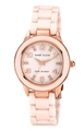 Anne Klein Women's 10-9344RGLP Rosegold-Tone Peach Ceramic Watch