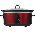 Brentwood 6.5 Quart Slow Cooker Red