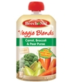 Beech Nut Pouch Veggie Blends - Carrot, Broccoli & Pear Puree <br> 3.5 oz - Case of 16