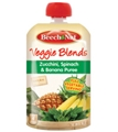 Beech Nut Pouch Veggie Blends - Zucchini, Spinach & Banana Puree <br> 3.5 oz - Case of 16
