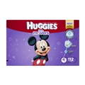 Huggies Little Movers Diapers Disney Design - Size 4 <br/> 112ct Case of 1