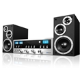 Innovative Technology 50 Watt Classic CD Stereo with Bluetooth (Silver)