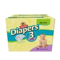 ShopRite Junior Club Diapers - Size 3 <br/> 80ct Case of 1