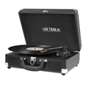 Victrola Bluetooth Suitcase Record Player with 3-Speed Turntable (Black)