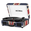 Victrola Bluetooth Suitcase Record Player with 3-speed Turntable (UK Flag)