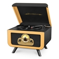 Victrola 5-in-1 Vintage Tabletop Record Player with Bluetooth, CD Player & 3-Speed Turntable (Tan - Camel)