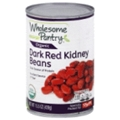 Wholesome Pantry Organic  Dark Red Kidney Beans <br> 15.5 oz - 12 per case