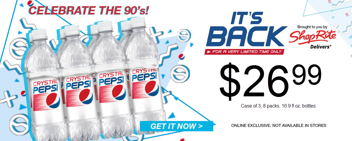 Crystal Pepsi Limited Quantities