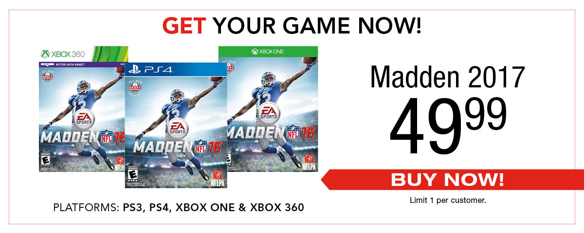 Madden 2017 - Reserve your copy today