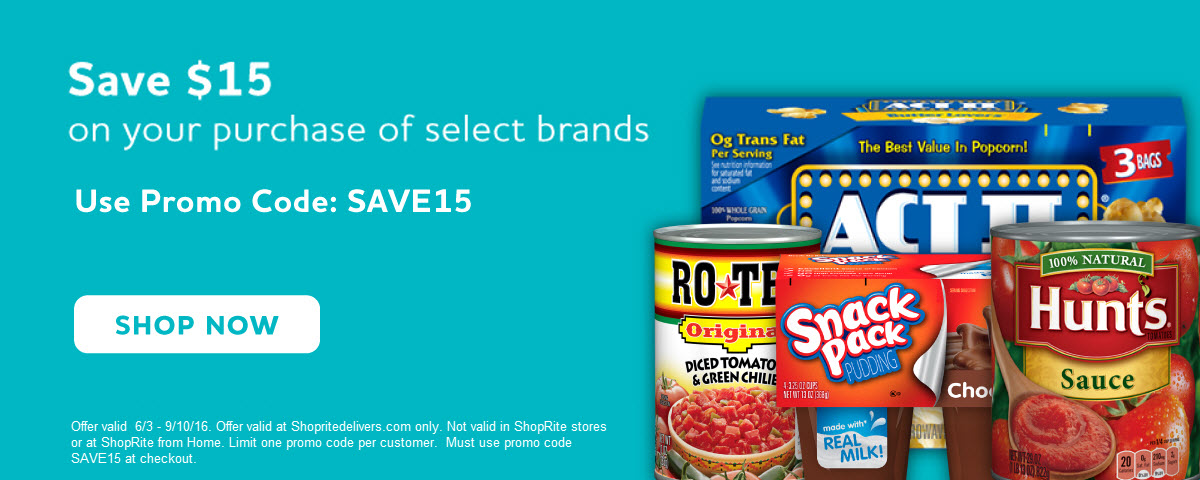 Save $15 on your order when you purchase a qualifying item. Use promo code SAVE15.