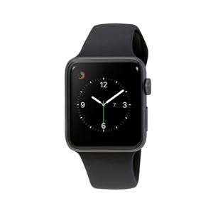 buy online feac4 87eb6 Apple Watch Series 3 42mm Smartwatch (GPS Only, Space Gray Aluminum Case,  Black Sport Band)