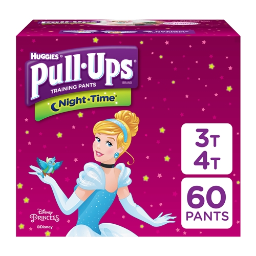 Pull-Ups Night-Time Training Pants for Girls, 3T-4T (Packaging May Vary)Pull-Ups Night-Time Potty Training Pants for Girls, 3T-4T (32-40 lb.), 60 Ct. (Packaging May Vary)