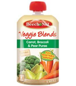 ... Veggie Blends - Carrot, Broccoli & Pear Puree 3.5 oz - Case of 16