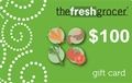 The Fresh Grocer $100 Gift Card - Redeemable in stores or at The Fresh Grocer Online Shopping