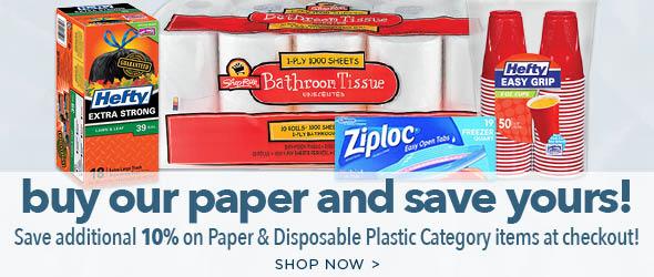 Paper Disposable Plastic
