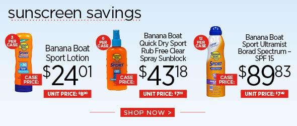 Sunscreen Savings