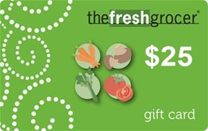The Fresh Grocer $25 Gift Card - Redeemable in stores or at The Fresh Grocer Online Shopping